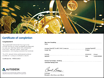 TransCon has completed 2014 Autodesk Training Certifications